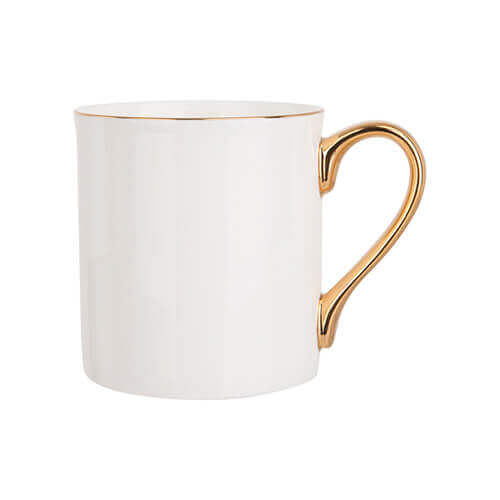 300 ml mug with golden handle for sublimation