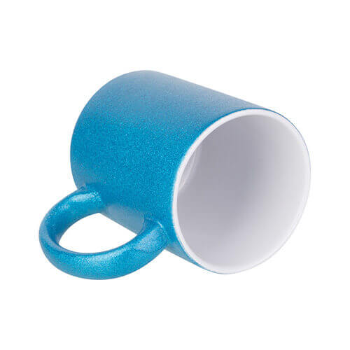 330 ml glitter mug for sublimation printing - blue