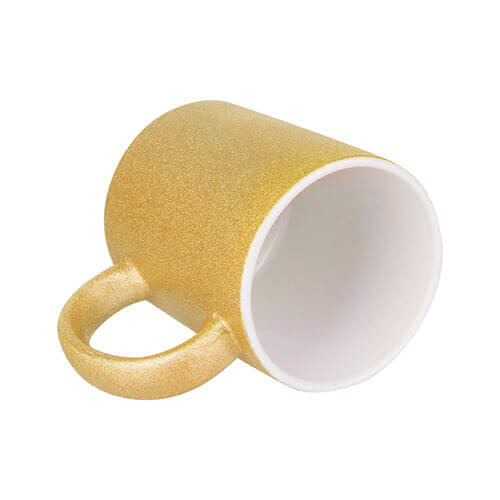 330 ml glitter mug for sublimation printing - gold