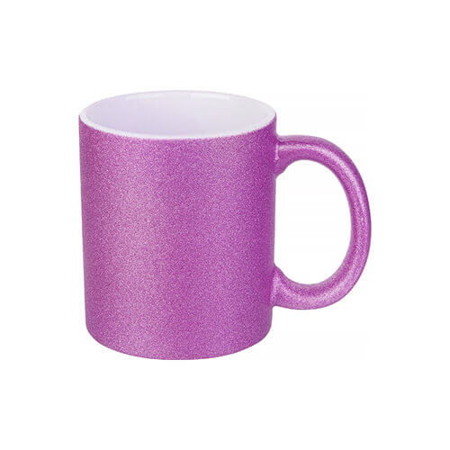 330 ml glitter mug for sublimation printing - purple