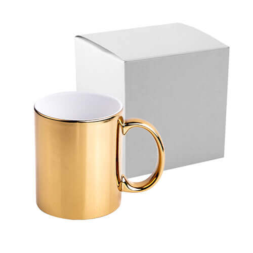 330 ml mug for sublimation printing with box - gold