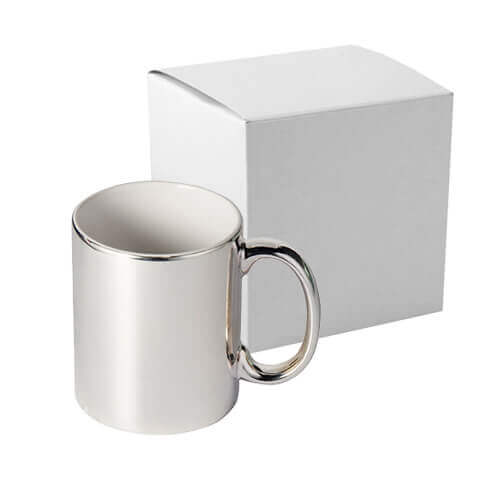 330 ml mug for sublimation printing with box - silver