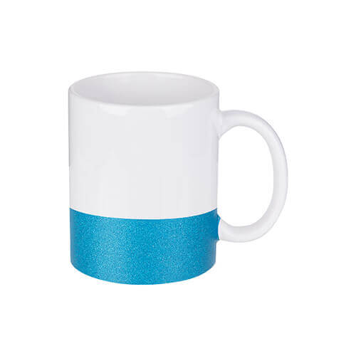 330 ml mug with a glitter strap for sublimation printing - blue