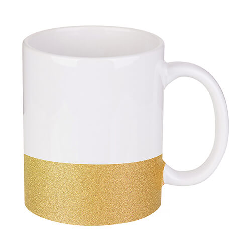 330 ml mug with a glitter strap for sublimation printing - gold