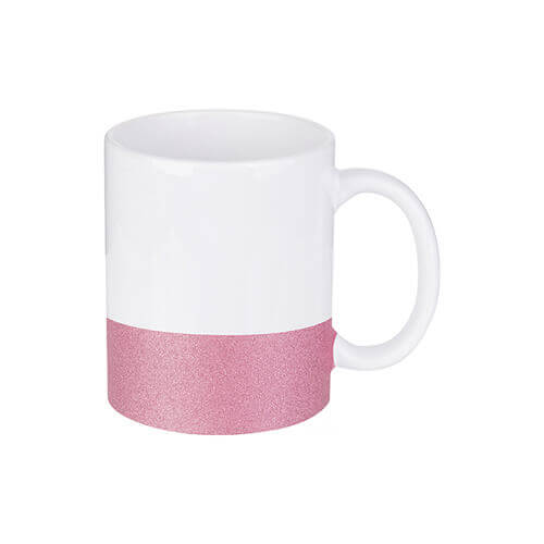 330 ml mug with a glitter strap for sublimation printing - pink