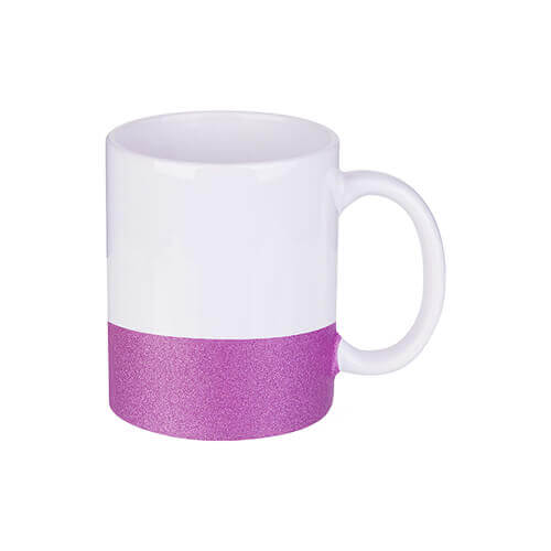 330 ml mug with a glitter strap for sublimation printing - purple