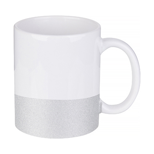 330 ml mug with a glitter strap for sublimation printing - silver