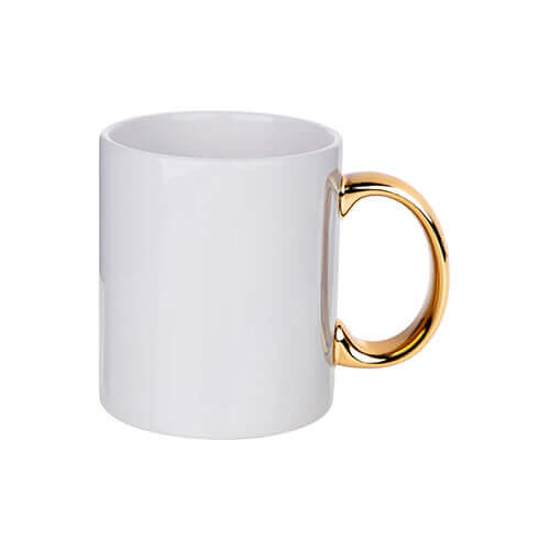 330 ml mug with gold handle for sublimation printing