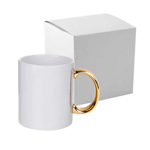 330 ml mug with gold handle for sublimation printing with box