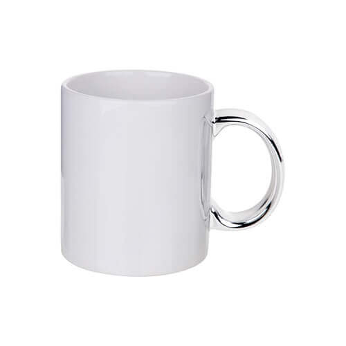 330 ml mug with silver handle for sublimation printing