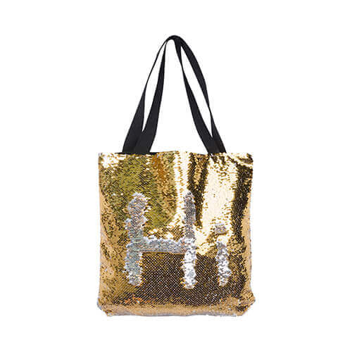 35 x 38 cm bag with gold sequins for sublimation printing