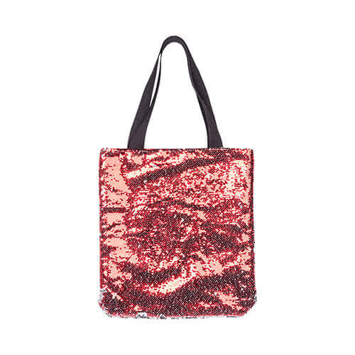 35 x 38 cm bag with red sequins for sublimation printing