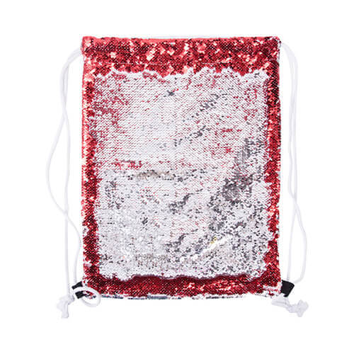 36 x 45 cm back sack with sequins for sublimation printing – red