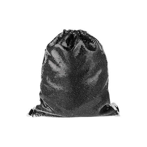 36 x 45 cm back sack with two-colour sequins for sublimation printing – black