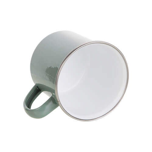 360 ml metal cup for  sublimation printing - gray green