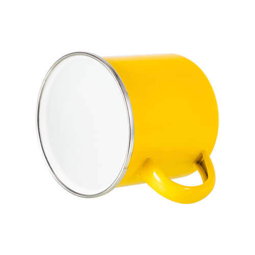 360 ml metal cup for  sublimation printing - yellow