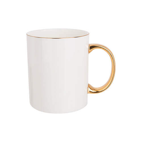 360 ml mug with golden handle for sublimation