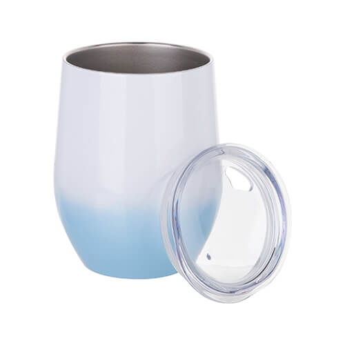 360 ml mulled wine mug for sublimation printing - white-blue gradient