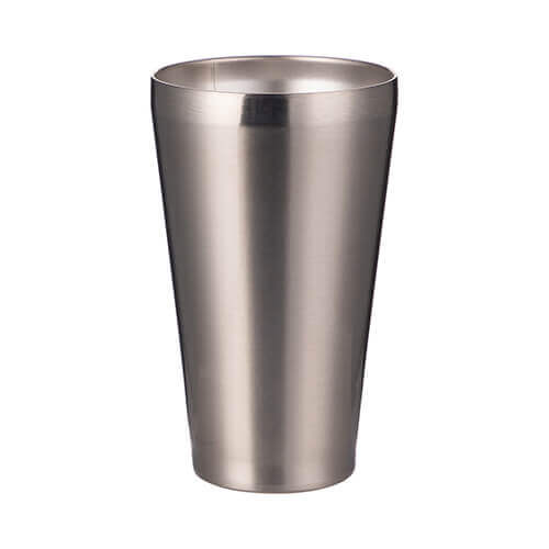 450 ml stainless steel, lidless mug /tumbler/ for sublimation printing - silver