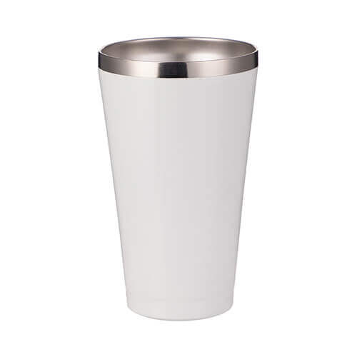 450 ml stainless steel, lidless mug /tumbler/ for sublimation printing - white
