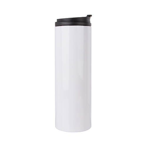 500 ml stainless steel sublimation water bottle - white