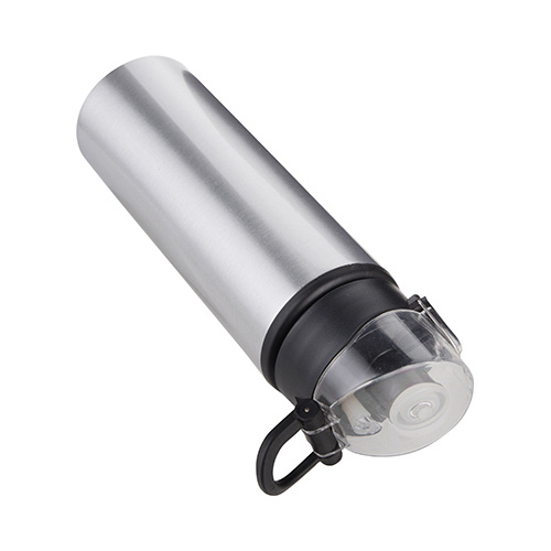 750 ml metal water bottle for sublimation – silver with black closure