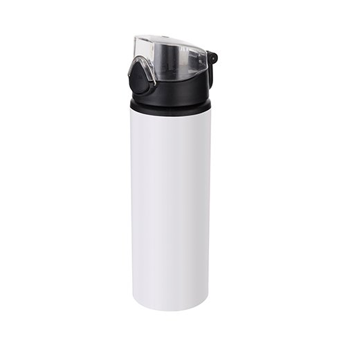 750 ml metal water bottle for sublimation – white with black closure