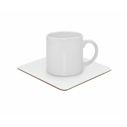 Aluminium and cork coaster Sublimation Thermal Transfer