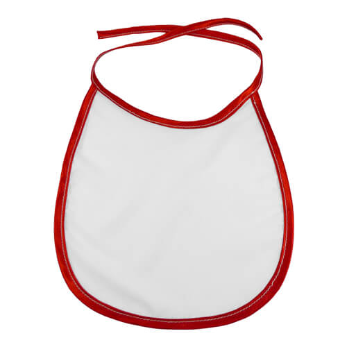Baby bib with red trimming Sublimation Thermal Transfer