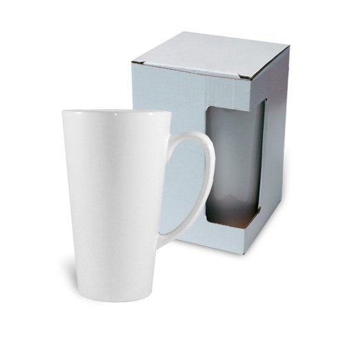 Big Latte mug JS Coating white with box KAR4 Sublimation Thermal Transfer