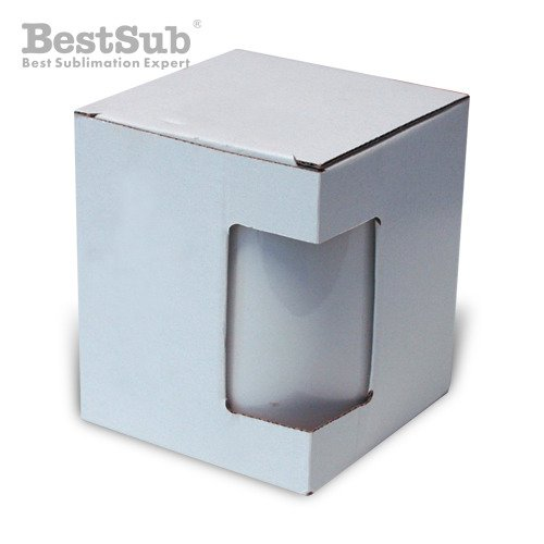 Box for mug 450 ml with window Sublimation Thermal Transfer