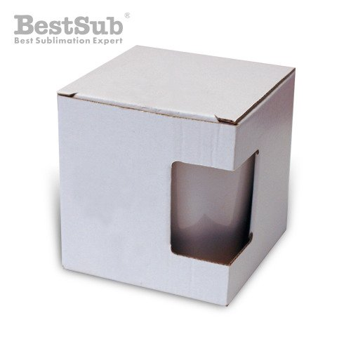 Box for small Latte mug with window Sublimation Thermal Transfer