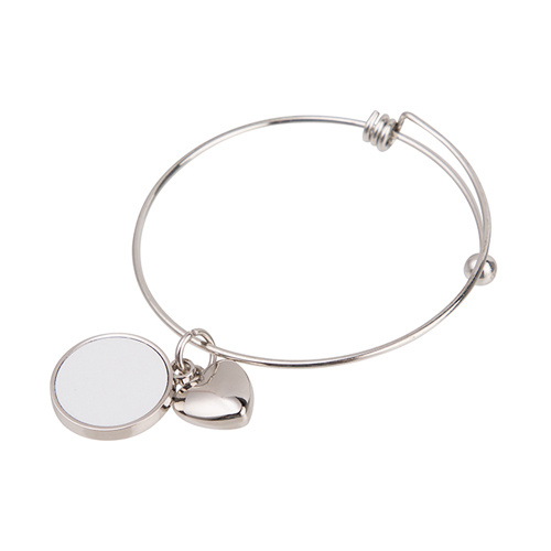 Bracelet with a boule, hearth, circle locket for sublimation printing