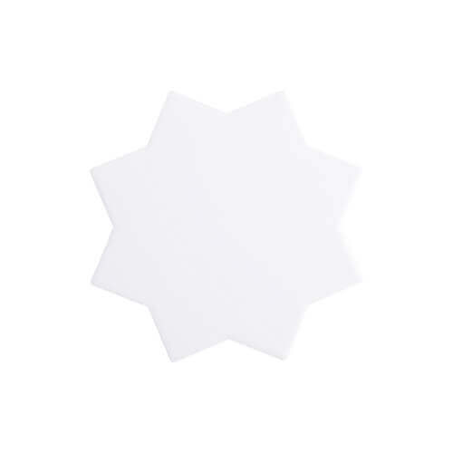 Ceramic coaster for sublimation – an eight-pointed star