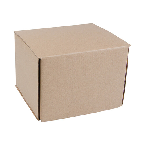 Double hard brown paper box for 450 ml mugs