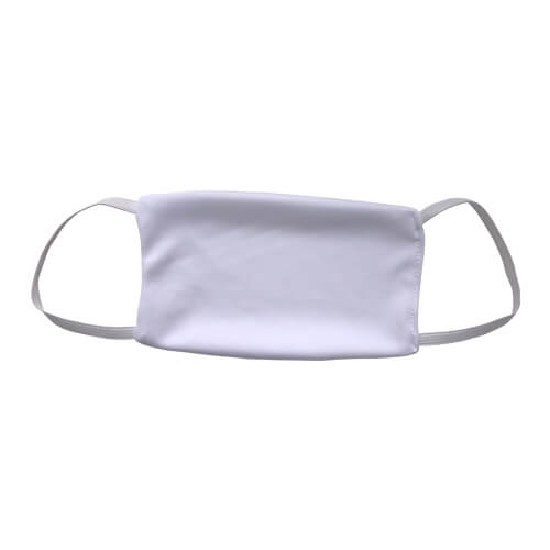 Face mask with elastics for sublimation