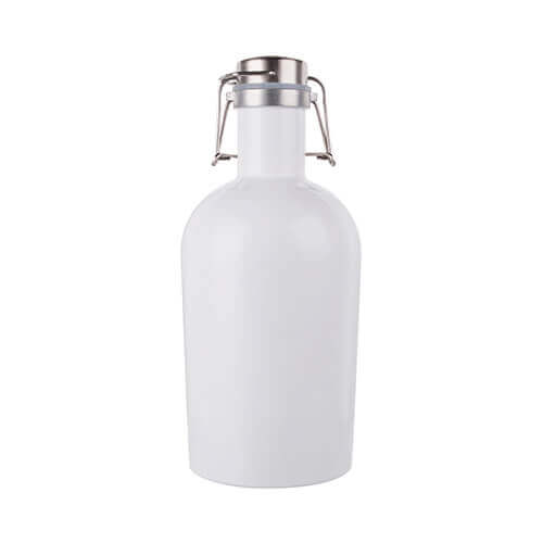 Growler – 2000 ml metal beer bottle for sublimation printing - white