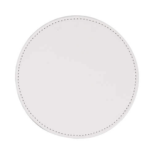 Leather mug coaster for sublimation printing - circle