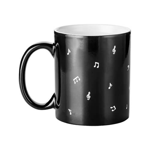 Magic cup with MUSIC engraver