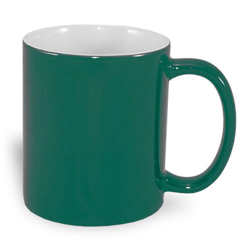Magic economic mug 330 ml green Sublimation Thermal Transfer