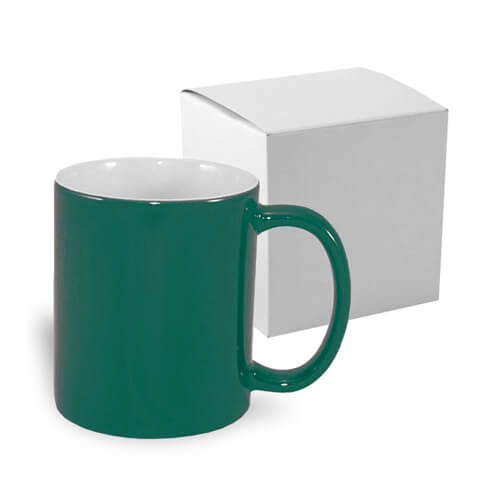 Magic economic mug 330 ml green with box Sublimation Thermal Transfer
