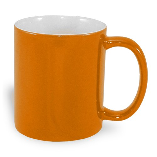 Magic economic mug 330 ml orange Sublimation Thermal Transfer