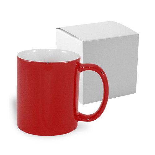 Magic economic mug 330 ml red with box Sublimation Thermal Transfer