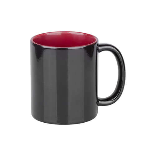Magic mug 330 ml black with marron interior Sublimation Thermal Transfer