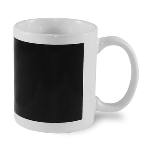 Magic mug with black patch Sublimation Thermal Transfer