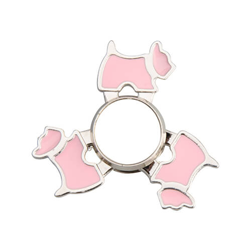 Metal spinner for sublimation - Dog - pink