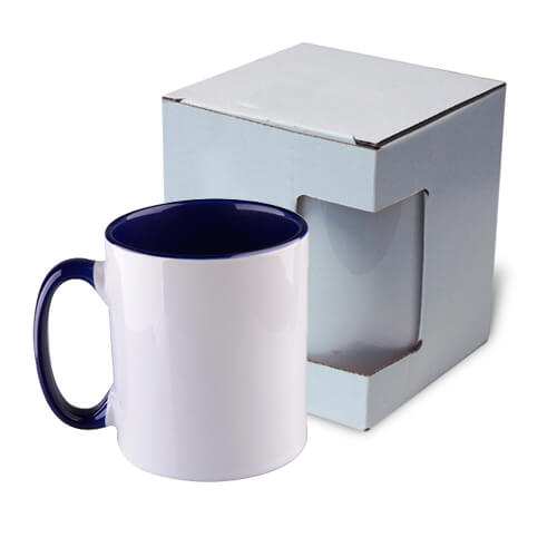Mug 300 ml Funny dark blue with box Sublimation Thermal Transfer