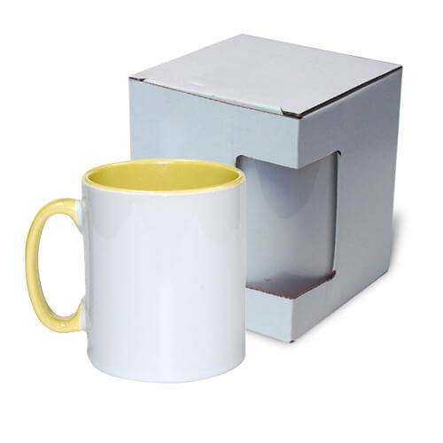 Mug 300 ml Funny yellow with box Sublimation Thermal Transfer