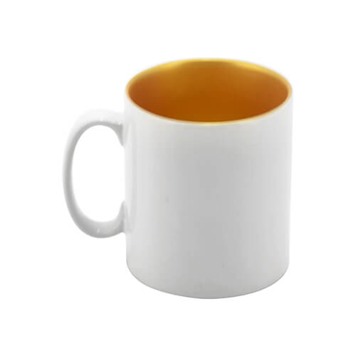 Mug 300 ml with gold interior Sublimation Thermal Transfer