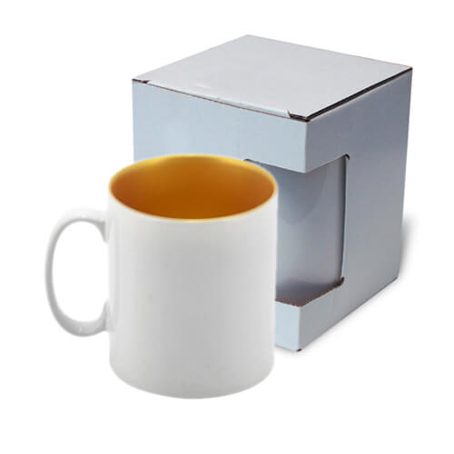 Mug 300 ml with gold interior with box Sublimation Thermal Transfer